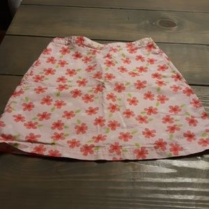 Lands End pink flower skirt girls size 10
